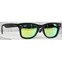 Lentes Ray-ban Wayfarer 2140 Tornasol Verde 100% Originales
