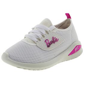Tênis Infantil Feminino Barbie Glamour Branco Grendene Kids