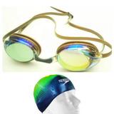 Óculos Natação Hammerhead Olympic Espelhado Kit Tca Speedo a55f4569181f2