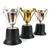 Juego De 3 Trofeos Copa Chicas Premio Plata Bronce Oro M61