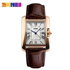 Skmei Elegante Moda Feminina Relógios C/pulseira De Couro