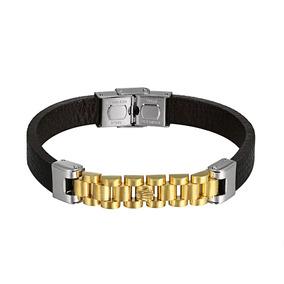 Pulseira Bracelete Rolex Banhado A Ouro 14k Exclusiva