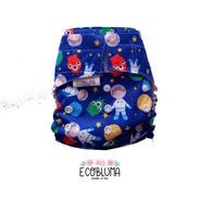 Pañal De Tela Ecobluma Bolsillo Summer Astronautas