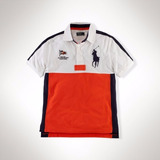 Polo Ralph Lauren Juvenil Camisa Polo Big Pony Block Laranja