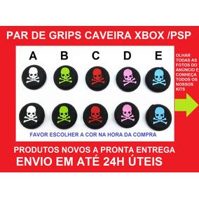 Par Grips Borracha Caveira Analógicos Ps4, Ps3, Xbox One 360