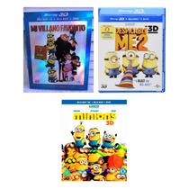Mi Villano Favorito 1 2 Y Minions 3d + Blu-ray + Dvd