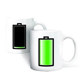 Kikkerland Cocina Taza Con Tinta Termográfica Diseño Bateria