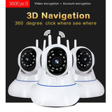 Cámara Ip Wifi Navegación3d Internet Redhd 360°ojo Pez 128gb