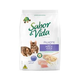 Ração Sabor & Vida Gatos Filhotes Peru Aveia 10.1 Kg