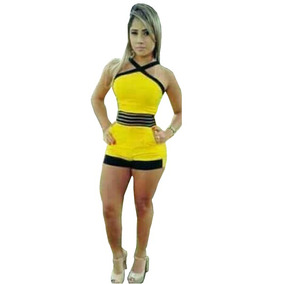Macaquinho Curto 3d Bicolor Princesa Linda Moda Regata