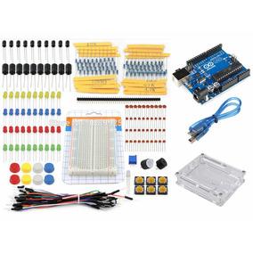 Kit Arduino Uno R3 Original Iniciante + Protoboard + 181 Pcs