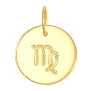 Pingente Ouro 18k Medalha Signo Virgem 13mm