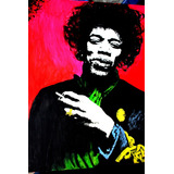 Cuadro Jimi Hendrix 50 X 40cm Rock And Roll Acrilico