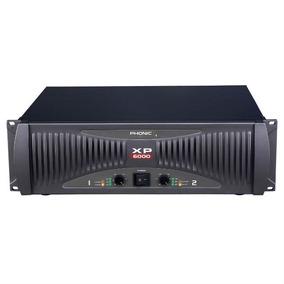 Amplificador De Potencia Xp 6000, 2400 Watts Rms, Phonic