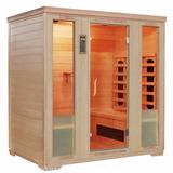 Cabina Sauna Infrarrojo Spruce 4 Personas Piscinería