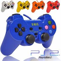 Kit 2 Controle Manete Joystick Playstation 2 Colorido