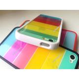 Funda Arcoiris Acrilico Para Iphone 4/4s, 5/5s , 6 Y 6 Plus