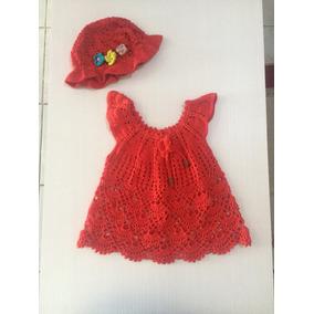 Vestidinho De Crochê Com Chapeuzinho Meninas Infantil