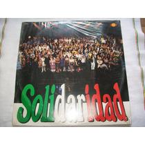 Solidaridad. Sasha, Tatiana, Lucia Mendez. Disco L.p. Nuevo