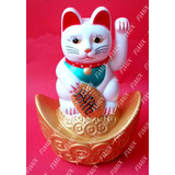 Gatinho Chinês Sorte Balança Mão Gato Maneki Neko Manekineko