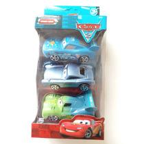 3 Carrinhos Cars 2 Funny Cars Macqueen Fricção