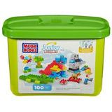 Mega Blocks Bloques De Imaginación Cubo Con 100 Piezas Verde