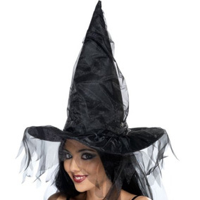 Sombrero De Bruja Para Mujer Smiffys Con Malla 7d7feb071fe