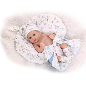 Mini Boneca Bebê Menino Reborn 30 Cm-silicone 100%-realista