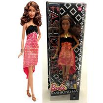 Boneca Barbie Fashionistas Petite Negra Original Mattel