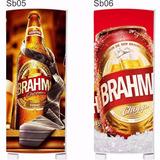 Envelopamento Adesivo Cerveja Brahma Skol Geladeira Freezer