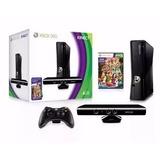 Xbox 360 Sli Destravado Novo Na Caixa Com Kinect E 2 Contro