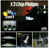 Led X3 Chip Philips H4 H7 H11