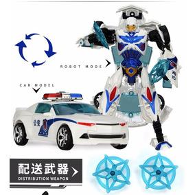 Carro Transformers - Carrinho De Policia - Miniatura Robô