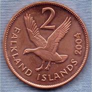 Falkland Islands 2 Pence 2004 * Ganso De Meseta *