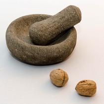 Mortero Tallado En Piedra