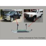Estribos Cortos Cromados Universales Para Pick-up Y Camion
