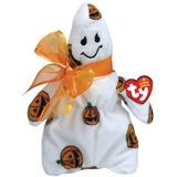 Ty Beanie Babies Fantasma Macabro W / Calabaza Patrón