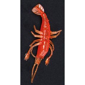Plasticos Señuelos Curricanes Camarones 9.5 Cm, Paq 6, Rojo