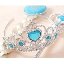 Kit Frozen Acessórios Princesa Elsa Coroa Varinha Trança