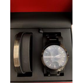 Relógio Armani Exchange Ax7101 Com Pulseira De Couro