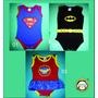 Body Baby Herois Infantil Geek Batman, Super Man, Mario