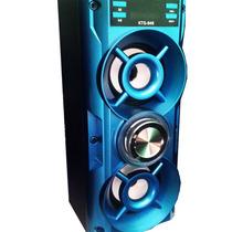 Caixa Som Bluetooth Amplificada Mp3 Usb Entrada P/microfone