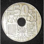 Moeda 50 Centimos 1949 Espanha