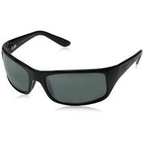 Gafas De Sol Maui Jim H202 Peahi-lente Negro Marco Negro