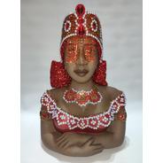 Iansã Busto Em Gesso - 35cm