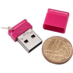 Pendrive Multilaser Nano Rosa 8gb Pd063 Frete Grátis