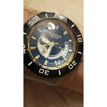 Relógio Technos Acqua Automático Titanium E Safira - 1000mts