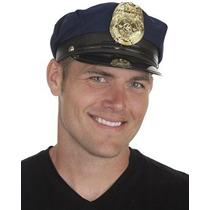 Disfraz Cap Policía Jacobson Hat Company Hombres, Armada, A