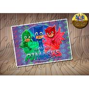 Papel De Arroz Pijamas Masks #2 Heróis