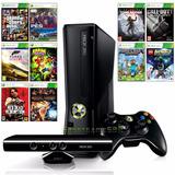 Xbox 360 Slim + Kinect + 1 Controle +10 Jogos + Frete Grátis
